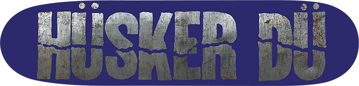 Image of HÜSKER DÜ: LOGO BLUE SKATEBOARD