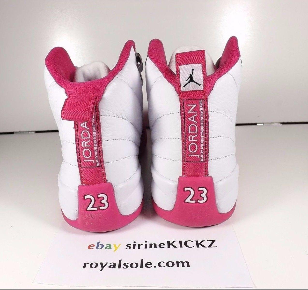 Image of Nike Jordan Xii 12 Retro Grade School Valentine White Pink 510815 109