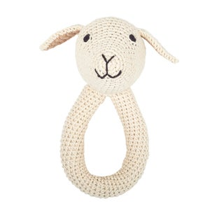 Image of Lamb ring - nature with bell inside