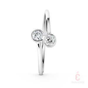 "Image of Bague Toi et Moi ""Swing"" diamants"