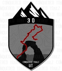 """Image of """"3D"""" Trail Badge"""