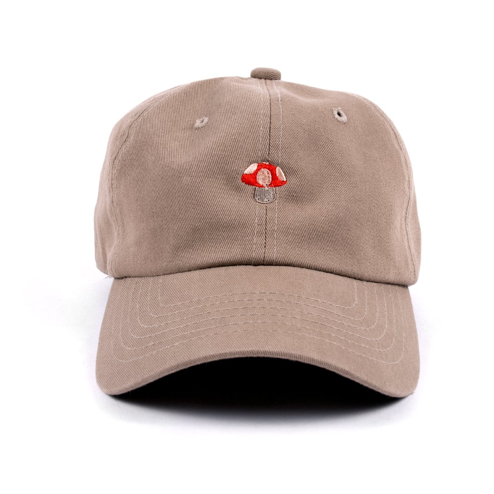 Image of  Mushroom Low Profile Sports Cap - Tan