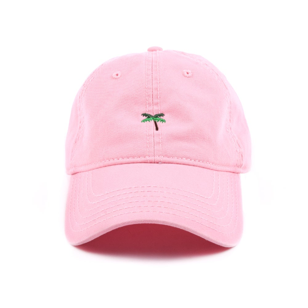Image of  Palm Tree Low Profile Sports Cap - Pink