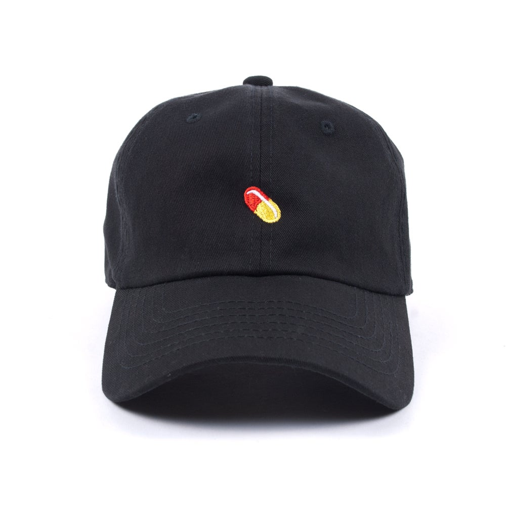 "Image of  ""Pill"" Low Profile Sports Cap - Black"