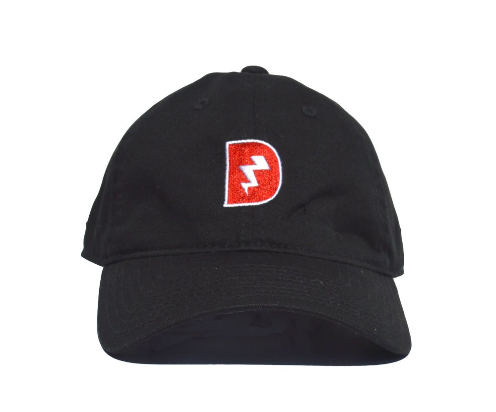 Image of Signature D Dad Hat - Black