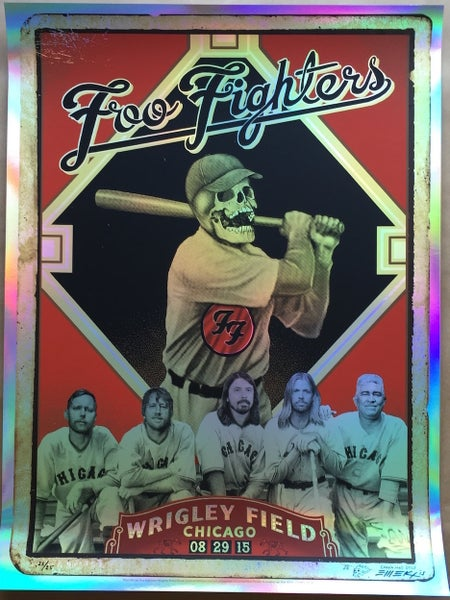 "Image of Foo Fighters ""Baseball Card"" Foil by EMEK"