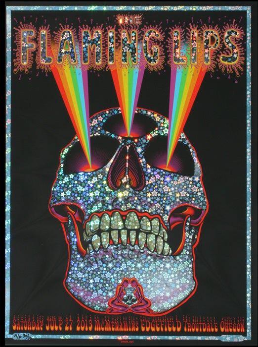 "Image of Flaming Lips ""Rainbow Skull"" Star Foil by EMEK"