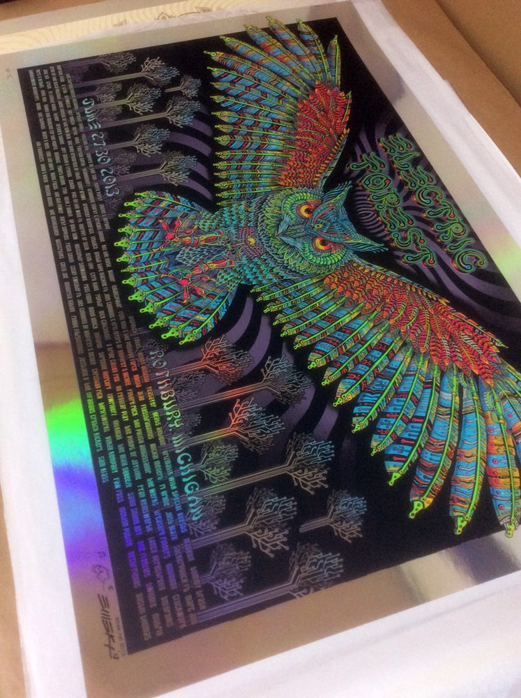 "Image of Electric Forest ""Owl"" Foil by EMEK"