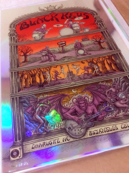 "Image of Black Keys ""Cross Roads"" Foil by EMEK"