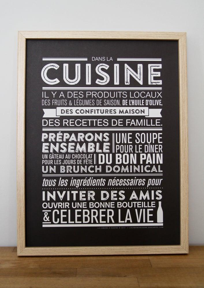 Affiche dans la cuisine la cabane eug ne for Affiche pour cuisine
