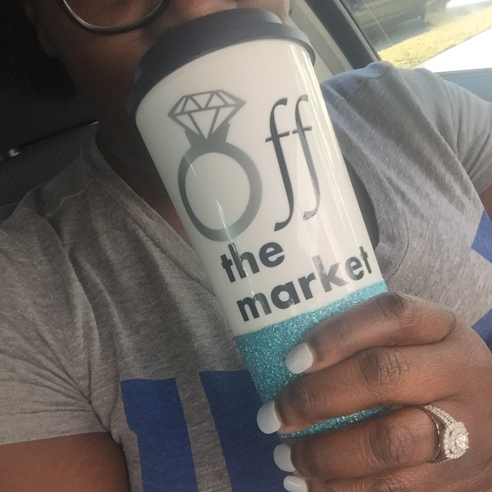 Image of Off The Market Glitter Dipped Tumbler