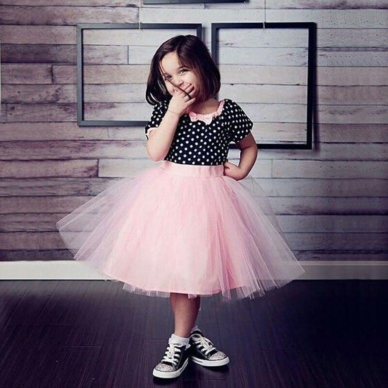 Image of Bubbly Pink Polka Dress