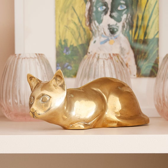 Image of Vintage Brass Cat