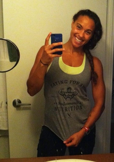 Image of E4A FLAGSHIP - Ladies Racerback Tank