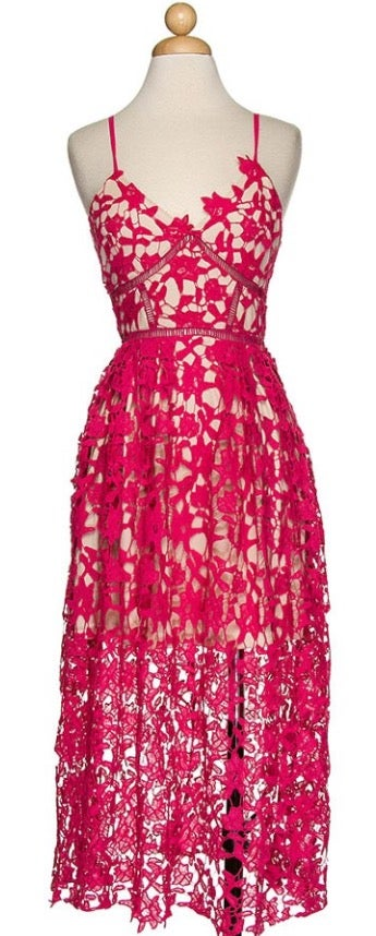 Image of Pretty in Pink Lace dress