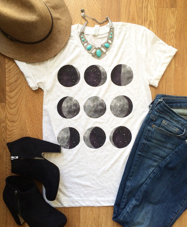 Image of Moon phases shirt - preorder
