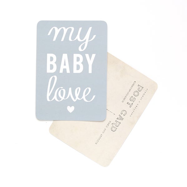 Image of Carte Postale MY BABY LOVE / MONA / GRIS BLEU