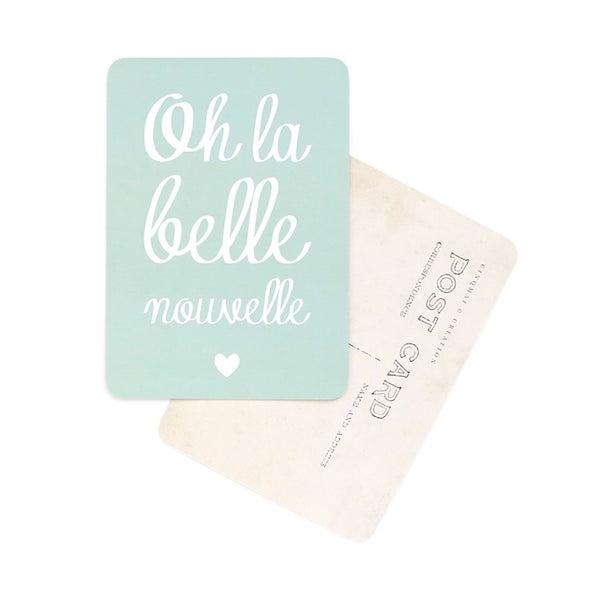 Image of Carte Postale OH LA BELLE NOUVELLE / MONA / VERT MENTHE