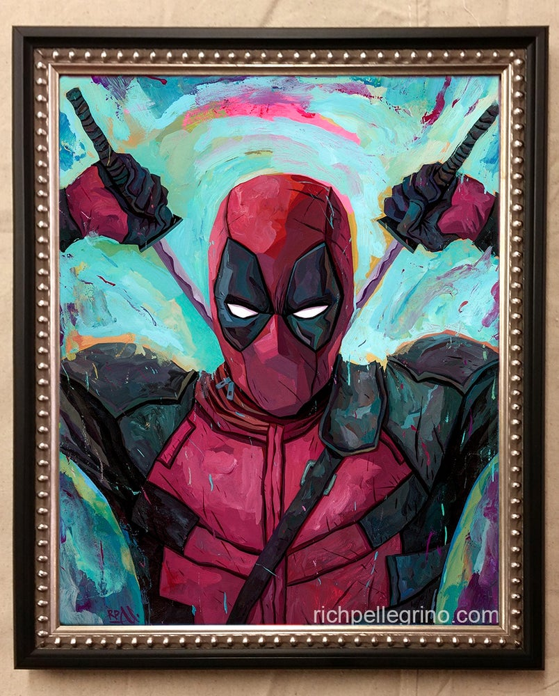 Image of Deadpool Original Painting