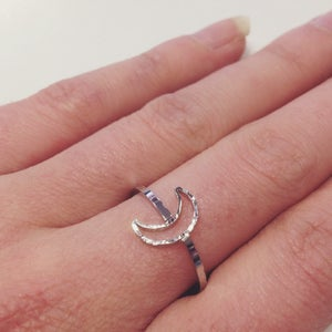 Image of Hollow Crescent Moon Ring