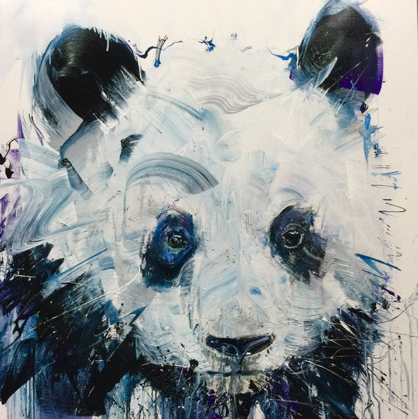 Image of Panda Limited Edition Giclee with Silkscreens and Varnishes
