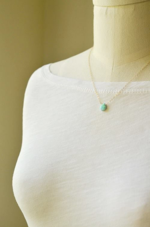 Image of Simulated opal necklace