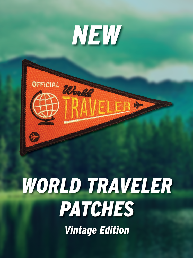 Image of World Traveler Patch - Vintage Edition