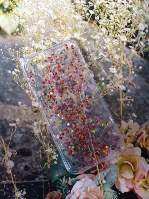 Image of iPhone 6 'Lucky Star' Glitter Cover