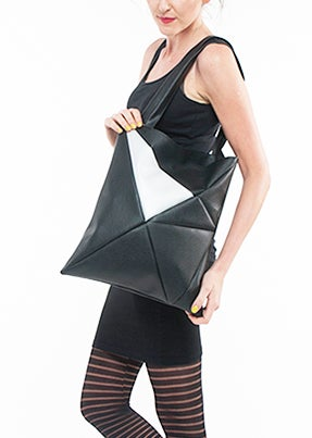 Image of GEO Bag black silver