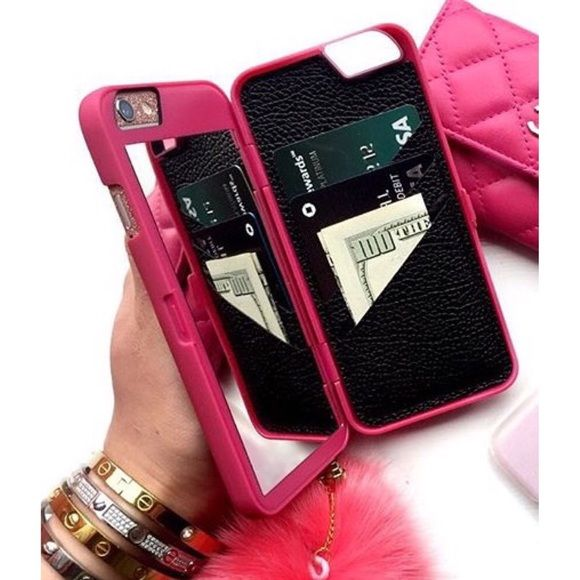 Image of iPhone Wallet Case with Hidden Mirror