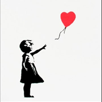 Image of Banksy - Girl with balloon, signed (Girl And Balloon) *POA*