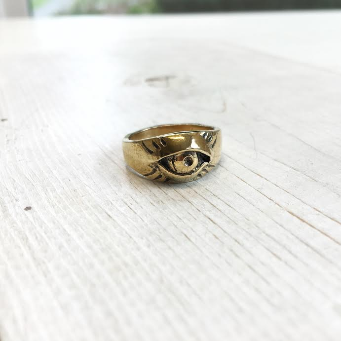 Image of All Seeing Eye Ring with Rays