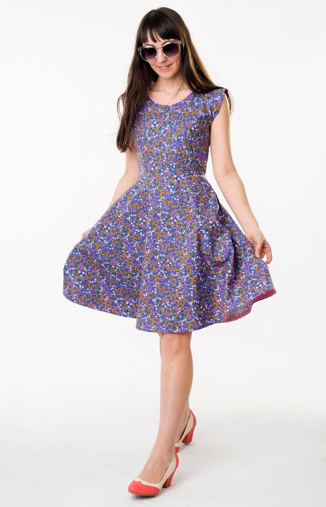 Image of SALLY DRESS: PERIWINKLE FLORAL