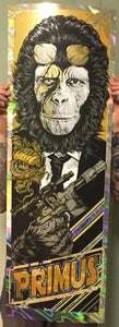 Image of PRIMUS gigposter - 'PRIMUS SHOT FIRST' GOLD HOLO VARIANT