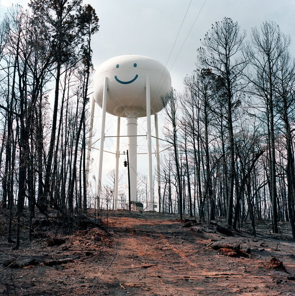 Image of Smiling Water Tower exhibition print