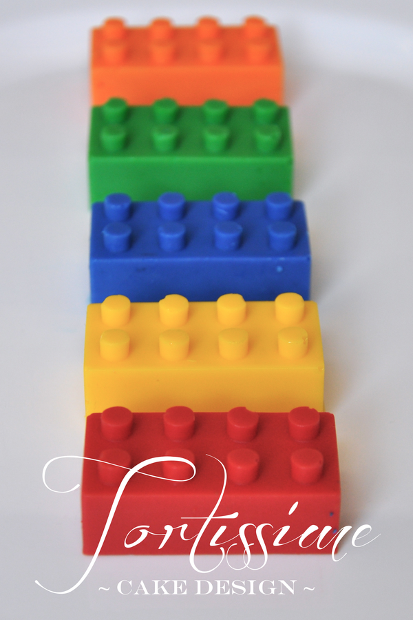 Image of Solid Chocolate Lego Blocks - Box of 30