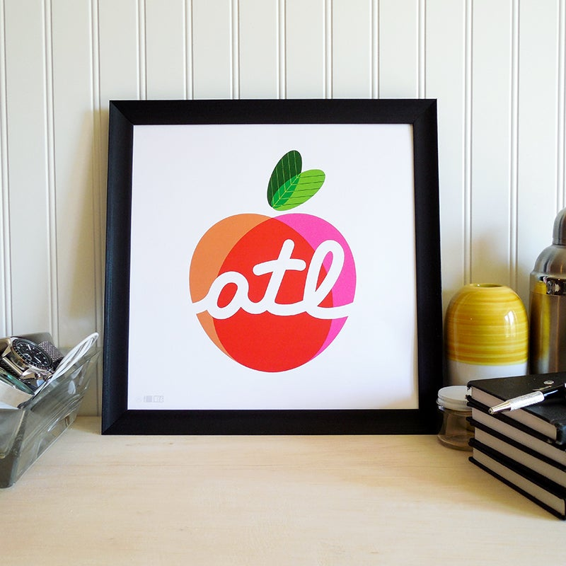 Image of The Big Peach Art Print