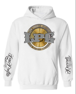 Image of LOWPROFILE RECORDS CHAIN WHITE HOODIE