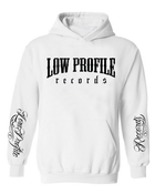 Image of LOWPROFILE RECORDS CLASSIC WHITE HOOODIE