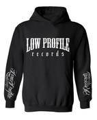 Image of LOWPROFILE RECORDS CLASSIC BLACK HOOODIE