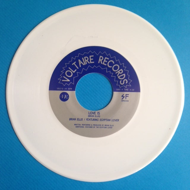 "Image of Brian Ellis - Love Is / Electric Body - 7"" White Vinyl Reissue"