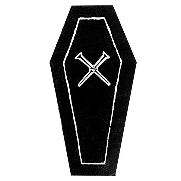 Image of Coffin & Crossed Nails Patch