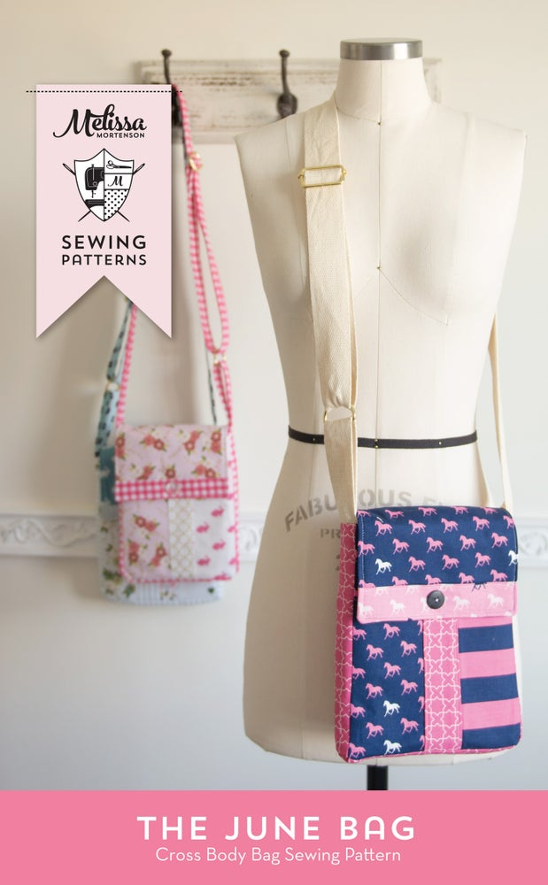 Image of June Bag, Mini Messenger Bag Sewing Pattern PDF