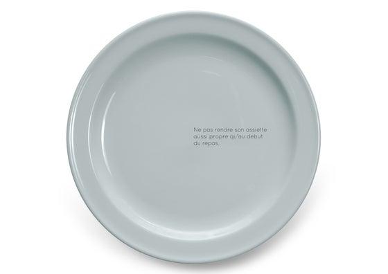 Image of Ne pas rendre son assiette aussi propre qu'au début du repas.