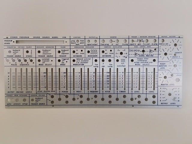 Image of 208 (rev 2.1) front panel + Frame (for DIY kit)