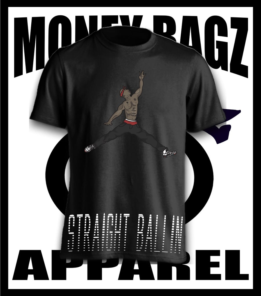 Image of Straight Ballin tee (red)