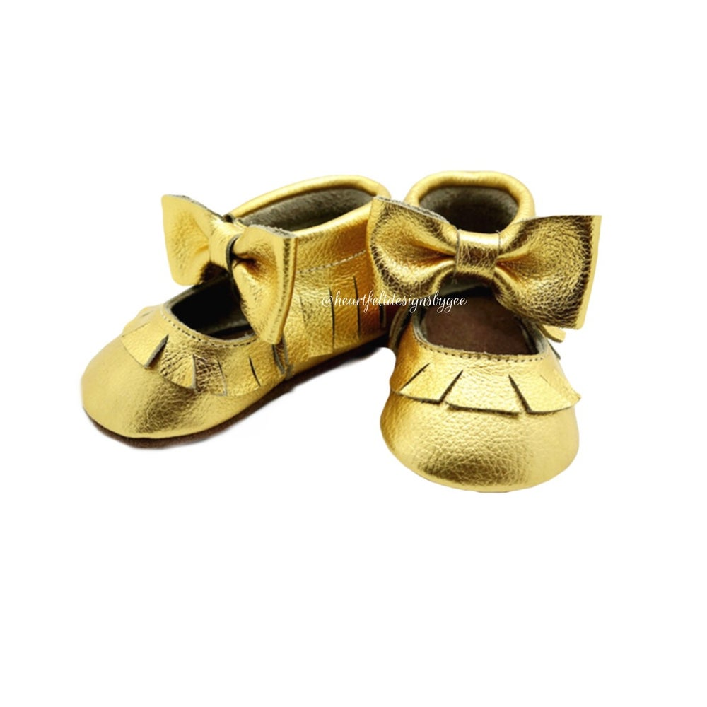 Image of The Gold Mary Jane Moccs