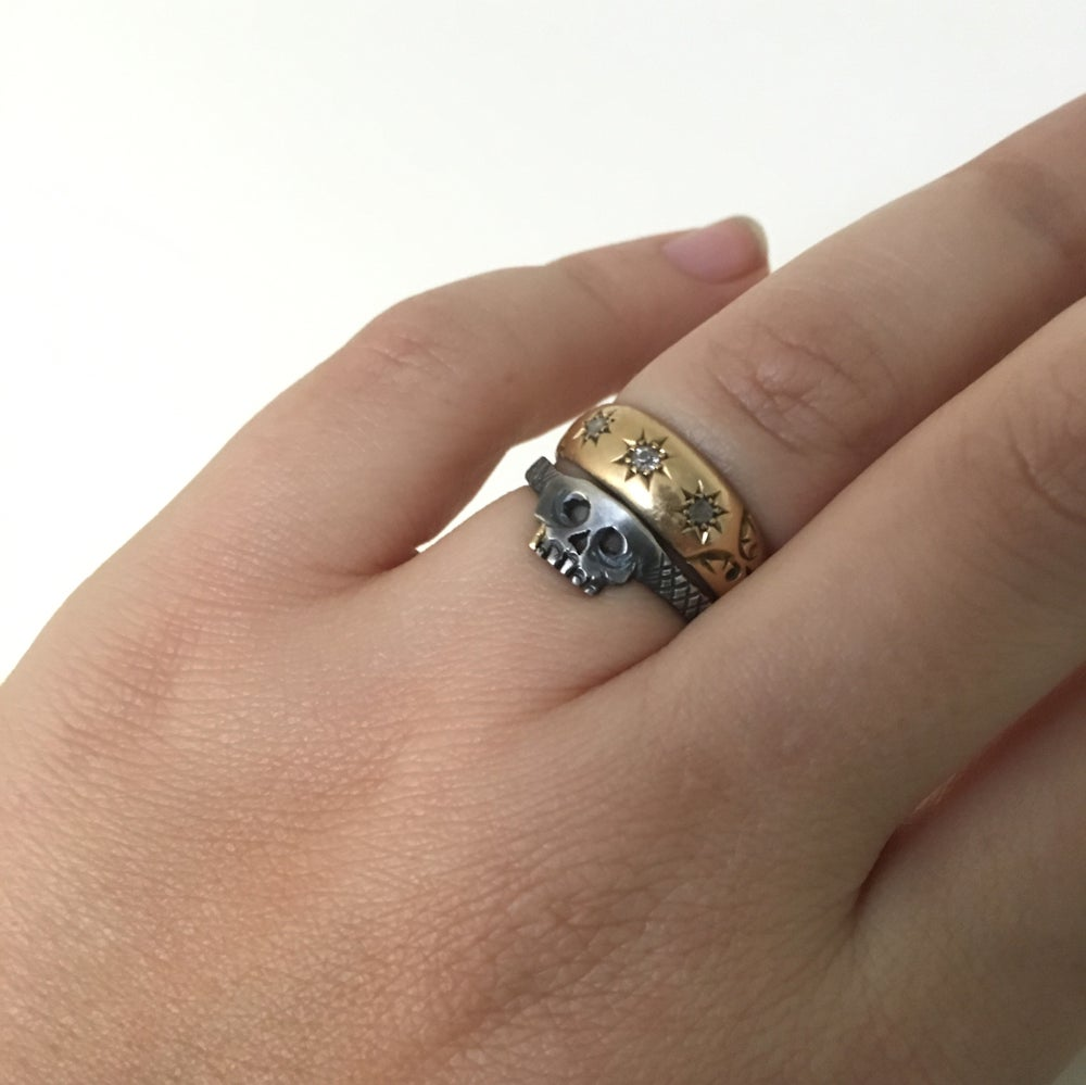Image of baby skull ring