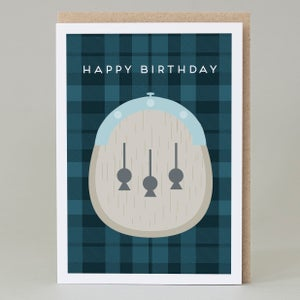 Image of Happy Birthday Kilt Blue Card