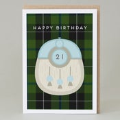 Image of 21st Birthday kilt card